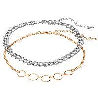 Mudd® Circle Link & Chunky Choker Necklace Set
