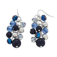 Nickel Free Faceted Cluster Drop Earrings