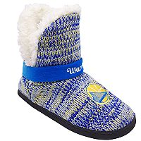 Women's Forever Collectibles Golden State Warriors Peak Boot Slippers