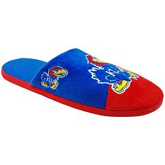 Men's Forever Collectibles Kansas Jayhawks Colorblock Slippers