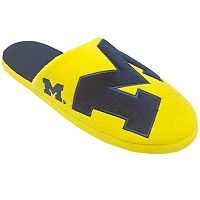 Men's Forever Collectibles Michigan Wolverines Colorblock Slippers