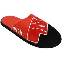 Men's Forever Collectibles Nebraska Cornhuskers Colorblock Slippers