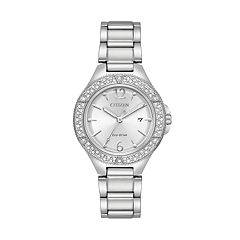 Citizen Eco-Drive Women's Silhouette Crystal Stainless Steel Watch - FE1160-54A