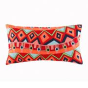 Josie by Natori Hollywood Boho Oblong Throw Pillow