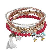 Mudd® Unicorn, Starburst & Tassel Charm Stretch Bracelet Set