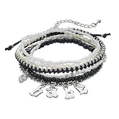 Mudd® 'Babe,' Slipknot & Beaded Stretch Bracelet Set