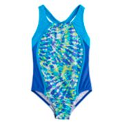 Girls 7-16 Speedo Tie-Dye One-Piece Swimsuit