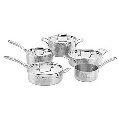 Cuisinart Hammered Collection Tri-Ply Stainless Steel 9-pc. Cookware Set