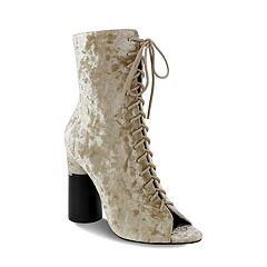 Olivia Miller Elmont Women's Peep Toe Ankle Boots