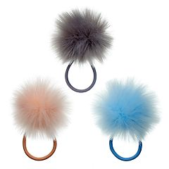 Mudd® Pom Pom Ponytail Holder Set