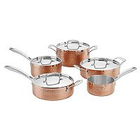 Cuisinart Hammered Collection Copper Tri-Ply Stainless Steel 9 pc Cookware Set
