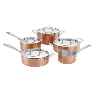 Cuisinart Hammered Collection Copper Tri-Ply Stainless Steel 9-pc. Cookware Set