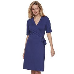 Women's Apt. 9® Grommet Faux-Wrap Dress