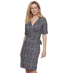 Women's Apt. 9® Grommet Faux-Wrap Dress