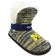 Women's Forever Collectibles Michigan Wolverines Peak Boot Slippers