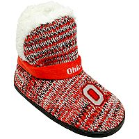 Women's Forever Collectibles Ohio State Buckeyes Peak Boot Slippers