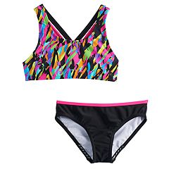 Girls 7-16 Speedo Crossback Cami Bikini Top & Bottoms Swimsuit Set