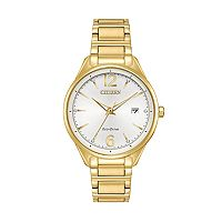 Citizen Eco-Drive Women's Chandler Crystal Stainless Steel Watch - FE6102-53A