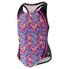 Girls 7-16 Speedo Tie-Dye Colorblock One-Piece Swimsuit