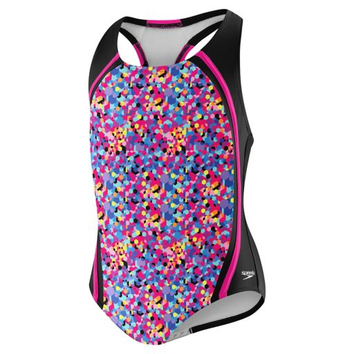 Girls 7-16 Speedo Tie-Dye Colorblock One-Piece Swimsuit