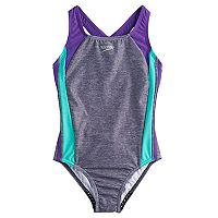 Girls 7-16 Speedo Infinity Splice One-Piece Swimsuit