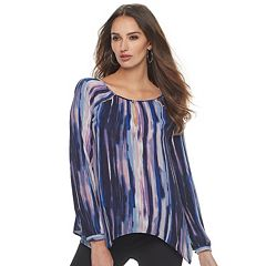 Women's Jennifer Lopez Printed Cutout Top