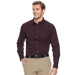 Big & Tall Apt. 9® Slim-Fit Stretch Button-Down Shirt