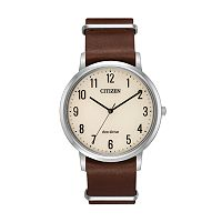 Citizen Eco-Drive Men's Chandler Leather Watch