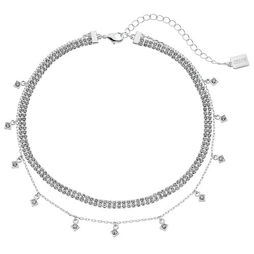 Chaps Cup Chain Double Strand Choker Necklace