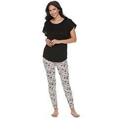 Women's Apt. 9® Pajamas: Short Sleeve Tee & Jogger Pants Set