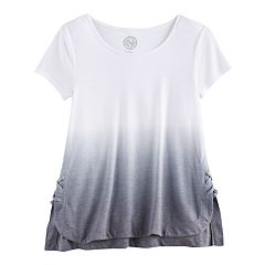 Girls 7-16 SO® Lace Up Wash Effect Tee