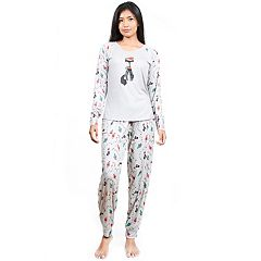 Women's INK+IVY Pajamas: Cuties Long Sleeve Tee & Jogger Pants 2 pc PJ Set