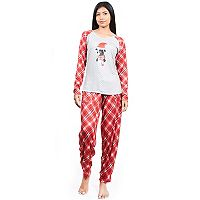 Women's INK+IVY Pajamas: Cuties Long Sleeve Tee & Jogger Pants 2-Piece PJ Set