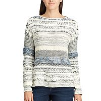 Women's Chaps Striped Rollneck Sweater