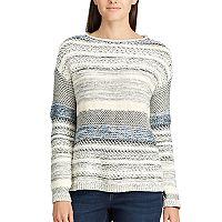 Women's Chaps Striped Rollneck Sweater