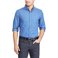 Big & Tall Chaps Regular-Fit Stretch Easy-Care Button-Down Shirt