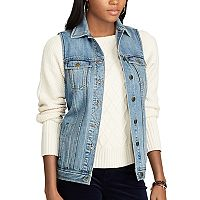 Women's Chaps Denim Vest
