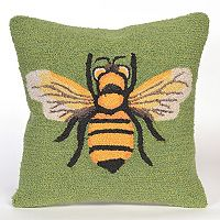 Liora Manne Frontporch Bee Indoor Outdoor Throw Pillow