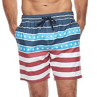 Men's Trinity Collective Captains Striped Elastic Swim Shorts
