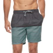 Men's Trinity Collective Chard Slim-Fit Striped Elastic Swim Shorts