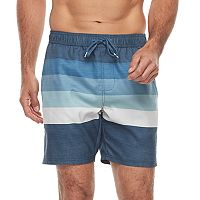 Men's Trinity Collective Barz Striped Elastic Swim Shorts