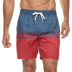 Men's Trinity Collective Barz Slim-Fit Striped Elastic Swim Shorts