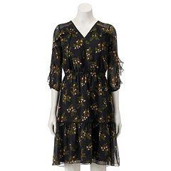Women's LC Lauren Conrad Ruffle Cold-Shoulder Shift Dress