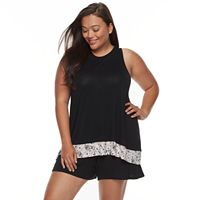Plus Size Apt. 9® High-Neck Tank and Shorts Sleep Set