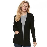 Women's Apt. 9® Ribbed Trim Cardigan