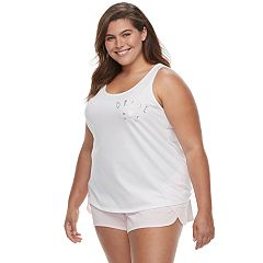 Plus Size Apt. 9® Pajamas: Bridal Tank & Shorts Set
