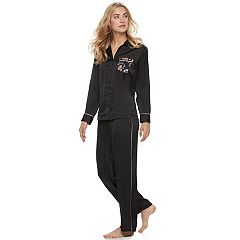 Women's Apt. 9® Pajamas: Soft Moonlight Satin Top & Pants 2-Piece PJ Set
