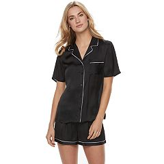 Women's Apt. 9® Pajamas: Soft Moonlight Satin Top & Shorts 2-Piece PJ Set