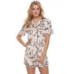 Women's Apt. 9® Pajamas: Soft Moonlight Satin Top & Shorts 2 pc PJ Set