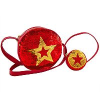 Girls 4-16 American Girl Girl & Doll Crossbody Star Sequin Purse Set